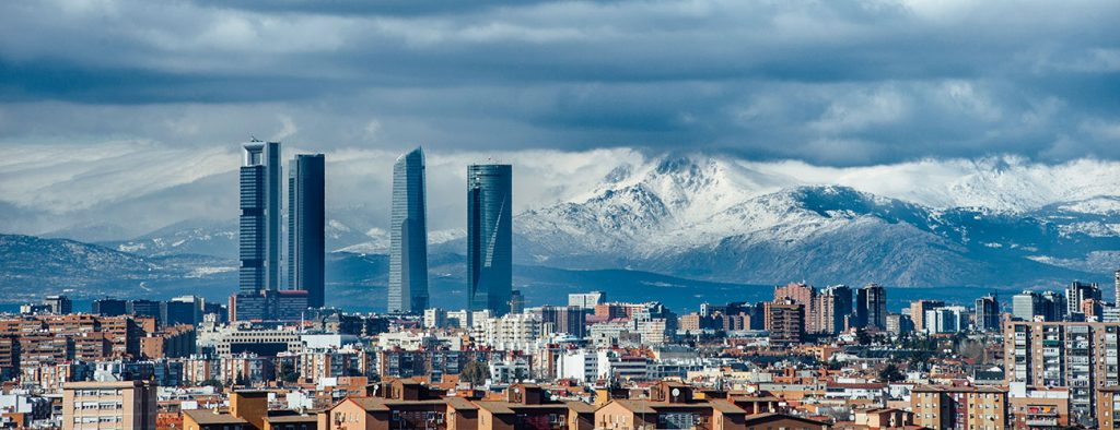 Picture of the Madrid skyline