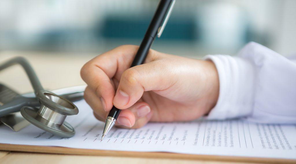 Image of medical writing